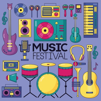 Fundo do festival de música