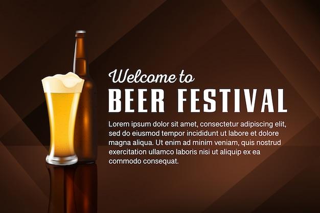 Fundo do festival do dia da cerveja