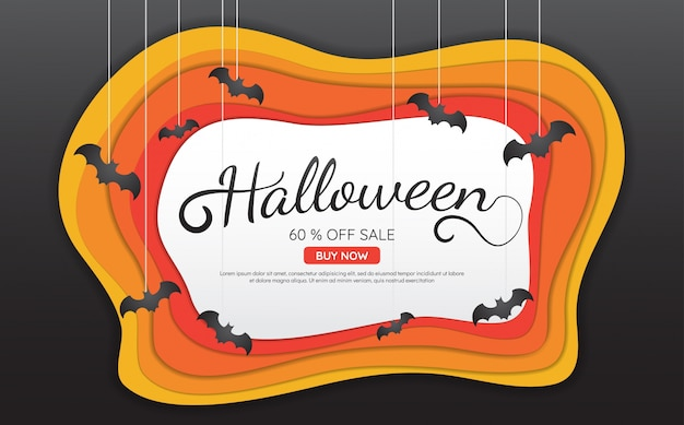 Fundo do fundo de halloween fundo para banner, cartaz, folheto