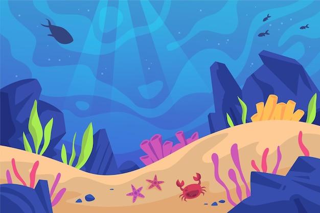 Fundo do fundo do mar para videoconferência