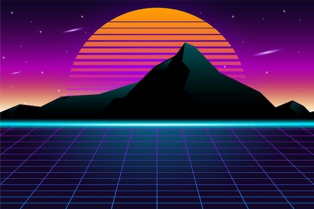 Fundo do futurismo retrô