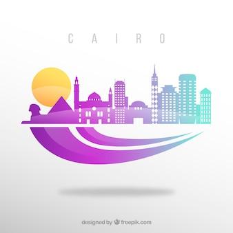 Fundo do horizonte do cairo