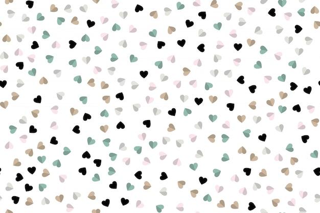 Fundo do ícone de corações. estilo simples