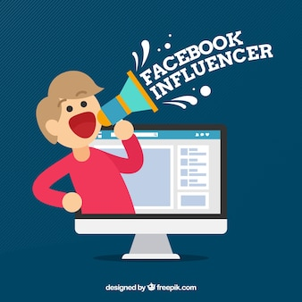 Fundo do influenciador do facebook