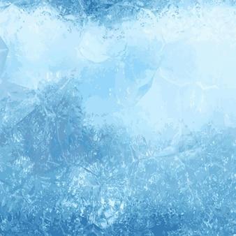 Fundo do inverno com uma textura de gelo