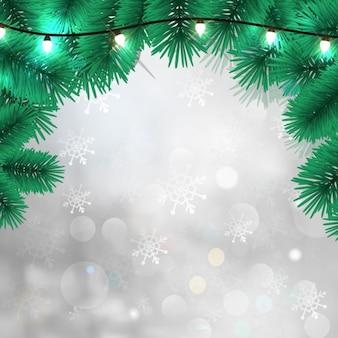 Fundo do inverno do natal com filial pin