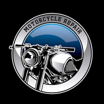 Fundo do logotipo da motocicleta