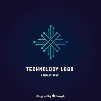 Fundo do logotipo de tecnologia