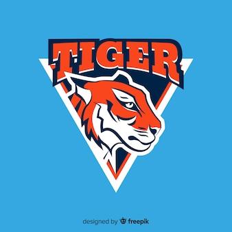 Fundo do logotipo do tigre