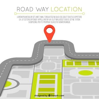 Fundo do mapa de estrada