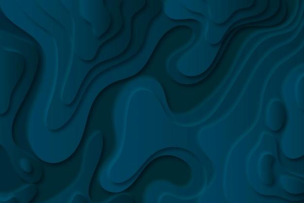 Fundo do mapa topográfico com camadas azuis