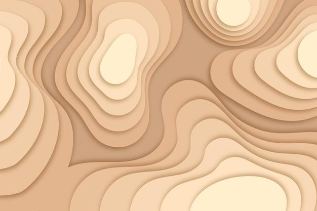 Fundo do mapa topográfico com camadas de dunas