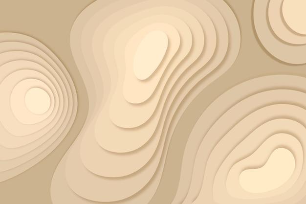 Fundo do mapa topográfico com dunas de areia