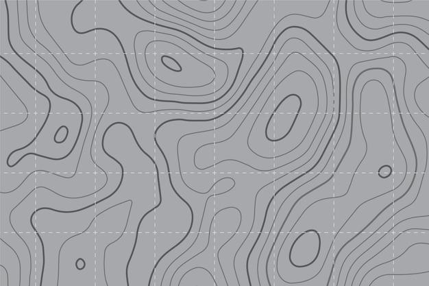 Fundo do mapa topográfico