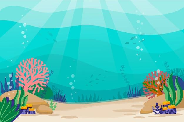 Fundo do mar para videoconferência