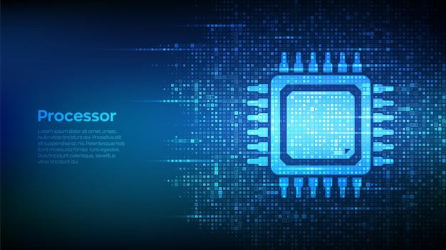 Fundo do microprocessador da cpu