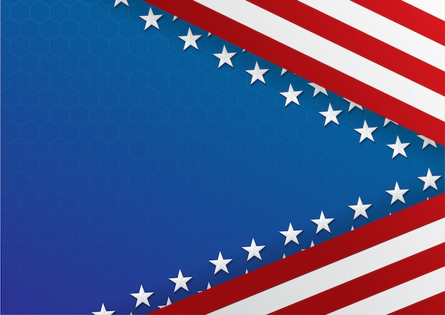 Fundo do modelo de banner de celebração eua dia da independência