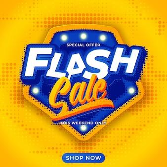 Fundo do modelo de banner de venda em flash