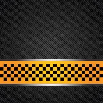 Fundo do modelo de táxi