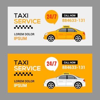 Fundo do modelo do panfleto do táxi do serviço de táxi. conceito de banner de folheto de vetor de aplicativo de motorista de táxi