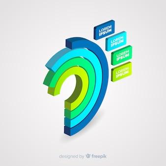 Fundo do modelo infográfico isométrico