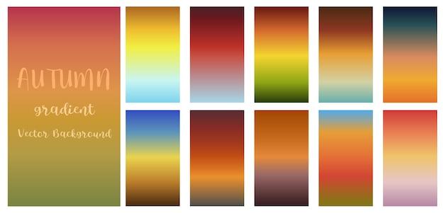 Fundo do molde do vetor do tema da cor da queda do outono do inclinação.