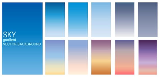 Fundo do molde do vetor do tema da cor do céu do inclinação.