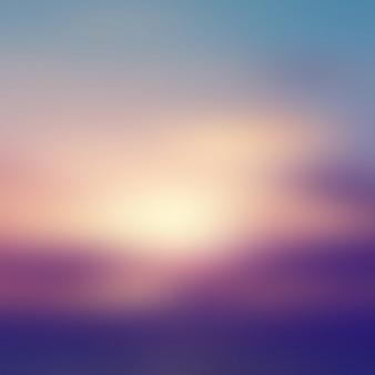 Fundo do nascer do sol turva