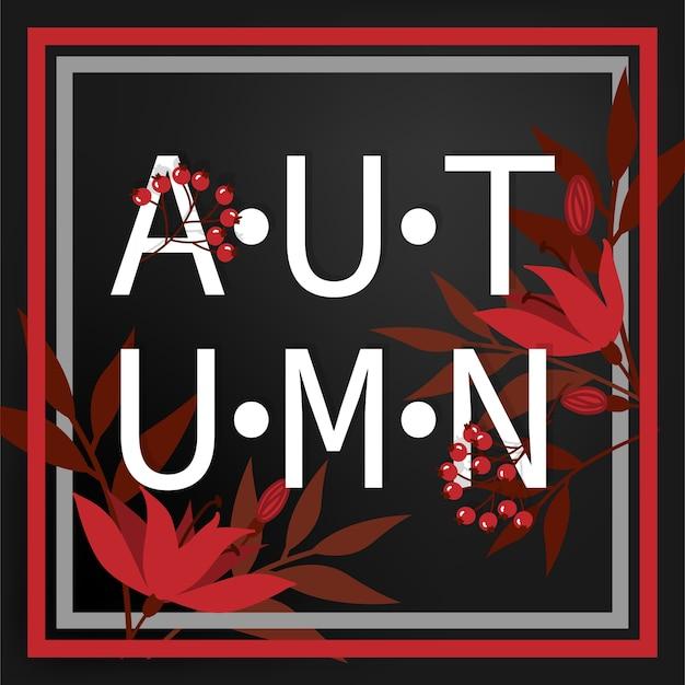 Fundo do outono com texto do outono olá!
