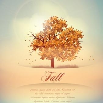 Fundo do outono, queda de folhas