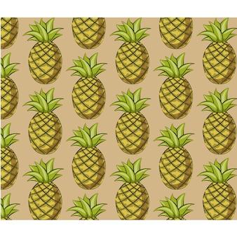 Fundo do padrão de abacaxi