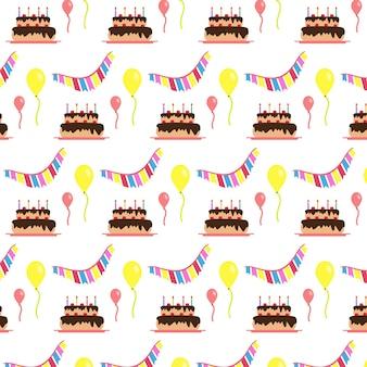 Fundo do padrão de feliz aniversário