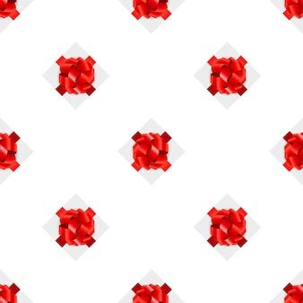 Fundo do padrão do seamsell da caixa de presente.