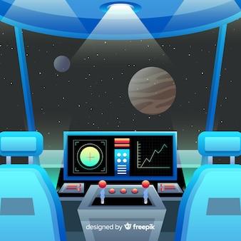 Fundo do painel de controle da nave espacial