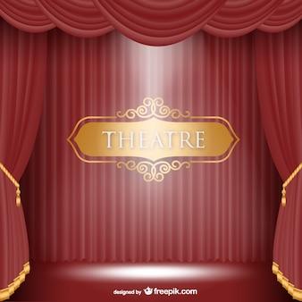 Fundo do palco do teatro