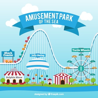 Fundo do parque de diversões