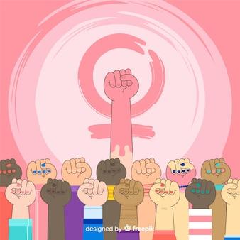 Fundo do poder da menina