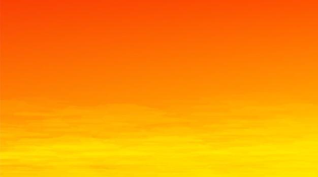 Fundo do pôr do sol ou do nascer do sol, design de conceito de quadrinhos
