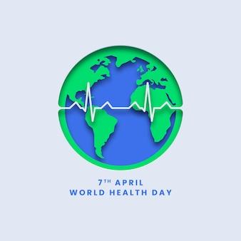 Fundo do pôster do dia mundial da saúde