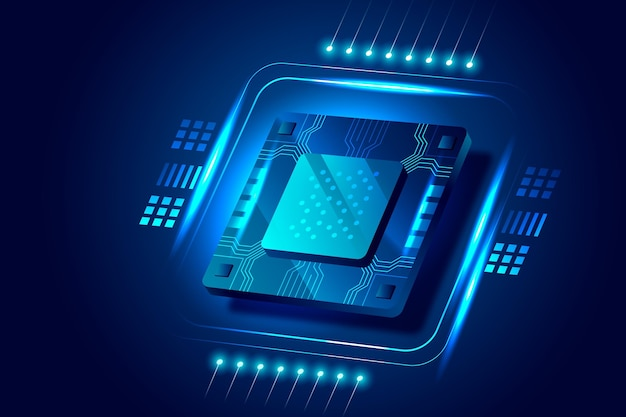 Fundo do processador de microchip