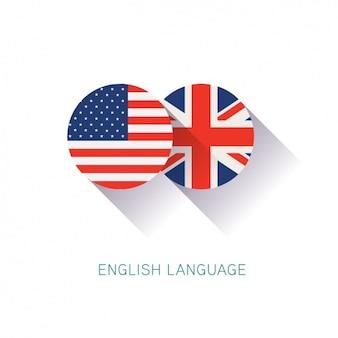 Fundo do projeto do inglês Vetor grátis