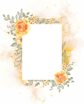 Fundo do quadro da flor rosa amarelo laranja talitha com retângulo de espaço em branco