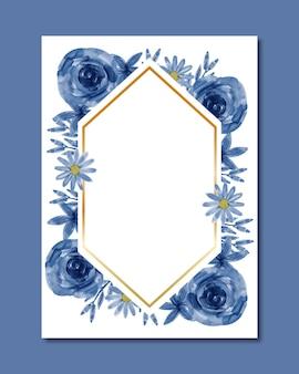 Fundo do quadro de aquarela flor azul