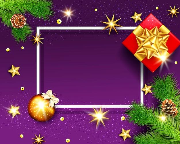 Fundo do quadro de feliz natal e feliz ano novo