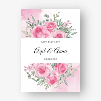 Fundo do quadro de flor rosa rosa para convite de casamento