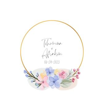 Fundo do quadro de flores em aquarela