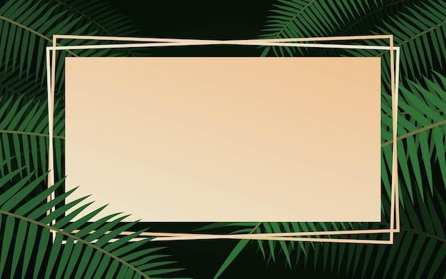 Fundo do quadro de folhas tropicais