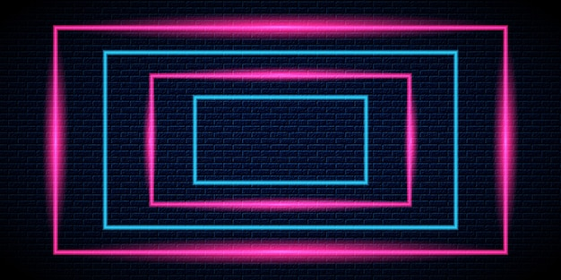 Fundo do quadro de luz neon