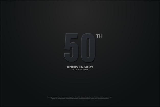 Fundo do quinquagésimo aniversário com tema escuro