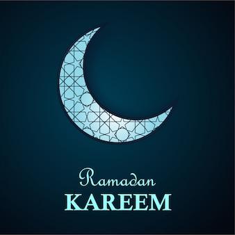Fundo do ramadã kareem com motivo islâmico